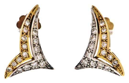 Preload https://img-static.tradesy.com/item/10155109/white-gold-yellow-gold-steal-and-wholesale-18k-and-diamond-chevron-stud-earrings-0-3-540-540.jpg
