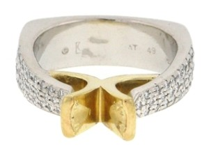 Other From High end Designer Jewelry store - 18K Gold & Platinum diamond semi- mounted ring