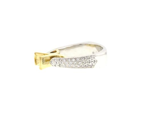 Other From High end Designer Jewelry store - 18K Gold & Platinum diamond semi- mounted ring Image 1