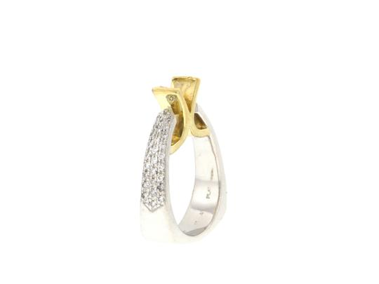 Other From High end Designer Jewelry store - 18K Gold & Platinum diamond semi- mounted ring Image 2