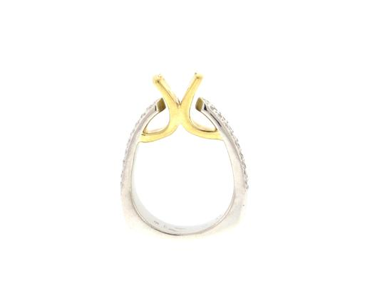 Other From High end Designer Jewelry store - 18K Gold & Platinum diamond semi- mounted ring Image 4