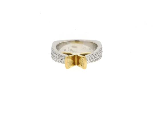Other From High end Designer Jewelry store - 18K Gold & Platinum diamond semi- mounted ring Image 5