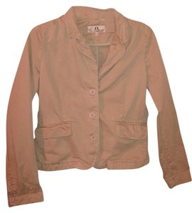 Juicy Couture Lightweight Heart Patch Tan Jacket