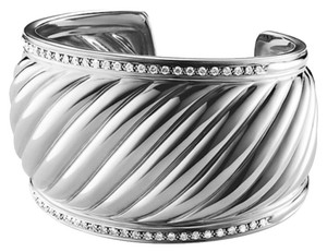 David Yurman David Yurman Diamond Sculpted Cable Cuff