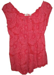 Cato Empire Waist Sparkle Top Pinky Red