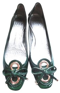 Elie Tahari Patent Leather Patent Leather Jeannette Patent Leather 9.5 green Flats