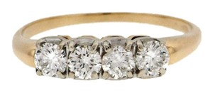 Steal - Gorgeous Vintage 14k gold 1 carat diamond band ring