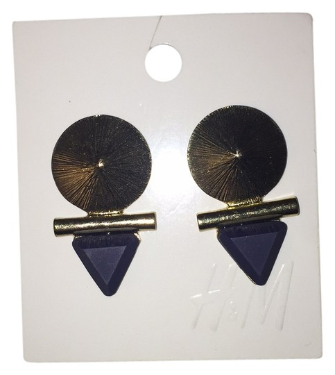 Preload https://img-static.tradesy.com/item/10156672/h-and-m-gold-and-blue-earrings-0-1-540-540.jpg