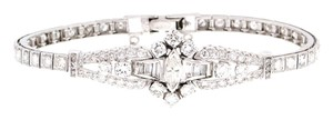 Outstanding - 14K White gold 3.5 carats diamonds (lovely big blindly ones) Bracelet