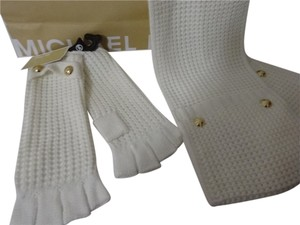 Michael Kors Knit Pocket Scarf and Matching Gloves