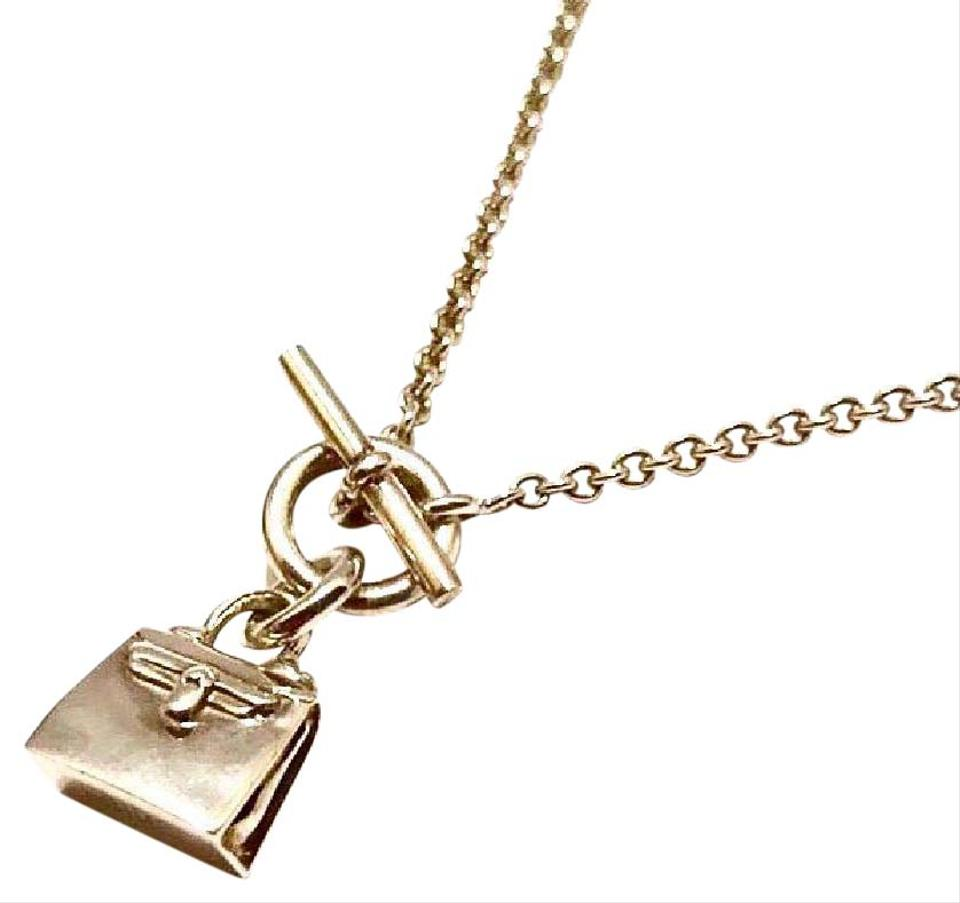 a4ea7970c4b Hermès Authentic Hermes Sterling Silver Kelly Bag Pendant Necklace Image 0  ...