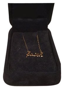 Faith/14KT Yellow Gold Inspirational Necklace