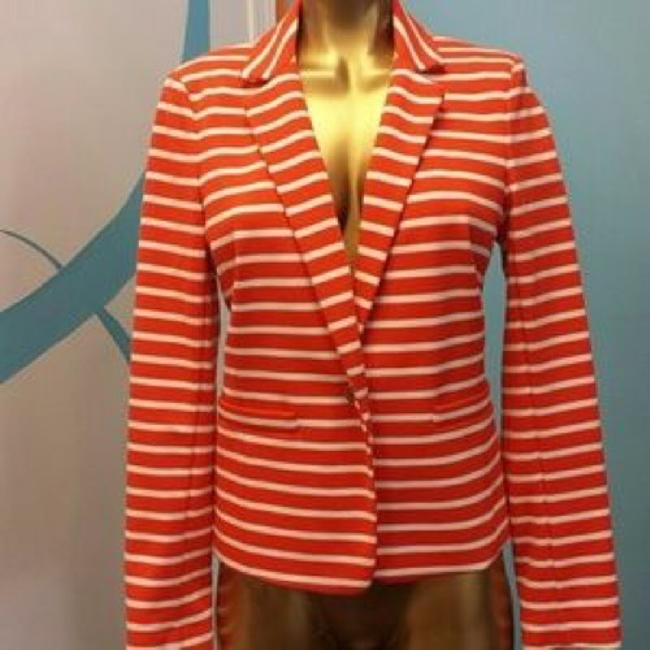 Michael Kors Jacket Suiting Mk Orange/Cream Blazer