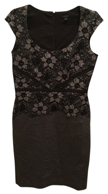 Preload https://img-static.tradesy.com/item/10157866/ann-taylor-grey-black-above-knee-night-out-dress-size-4-s-0-1-650-650.jpg