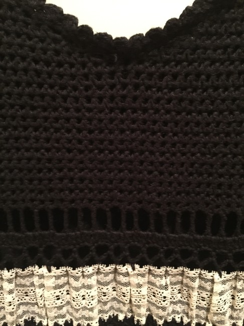 Betsey Johnson short dress Black & Off White Crocheted With Lace on Tradesy