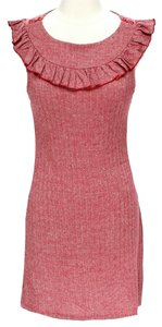 Ella Moss short dress Red Tweed Ruffle on Tradesy