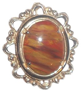 Large Vintage Pin Wiith Jasper Stone Almost 2