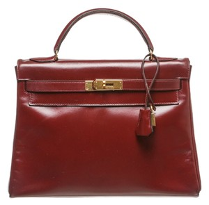 Hermès Satchel in Burgundy