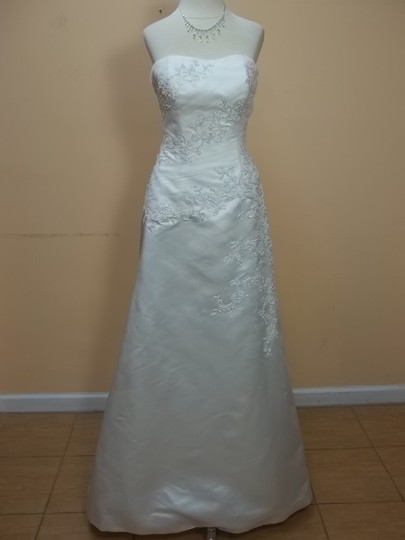 Mori Lee Ivory 4178 Formal Wedding Dress Size 10 (M)
