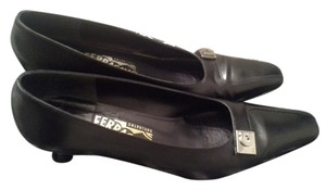 Salvatore Ferragamo Leather Italy Heels Black Pumps