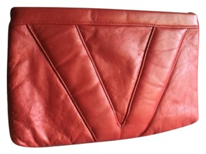 Empire Vintage Leather Red Clutch