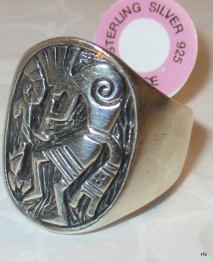 Other Mens or Ladies 11 Gram Genuine 925 Sterling Silver ENGRAVED Kokopelli Ring Size 11 Image 1