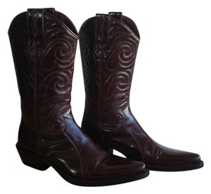 Roberto Botticelli Leather Handmade Cowboy Brown Boots
