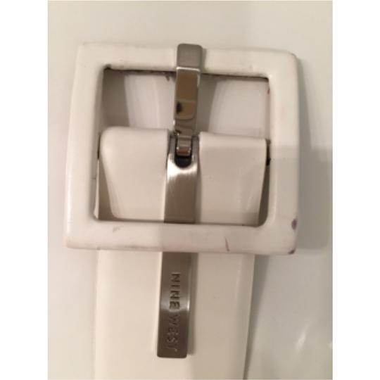 Nine West Leather Square Buckle