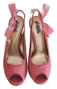 Hale Bob Slingback Party Wedding Bow Pink Pumps