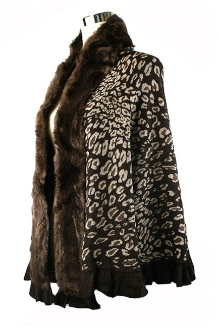 Ubranded Wrap Shawl Fur Cape