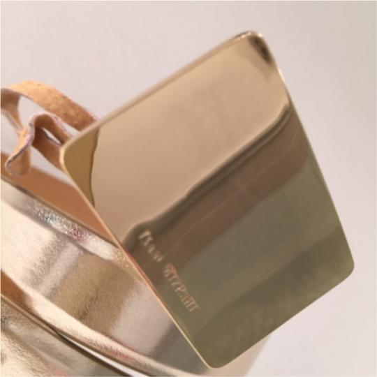 Isaac Mizrahi Goldtone Leather