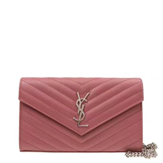Preload https://item4.tradesy.com/images/saint-laurent-chain-wallet-monogram-red-powder-leather-shoulder-bag-10162693-0-2.jpg?width=440&height=440