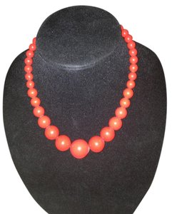 Other Vintage Red Bead Necklace