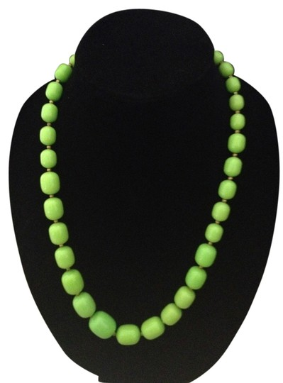 Other Vintage Green/Gold Bead-like necklace