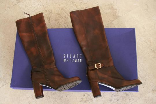 Stuart Weitzman Leather Tall brown Boots