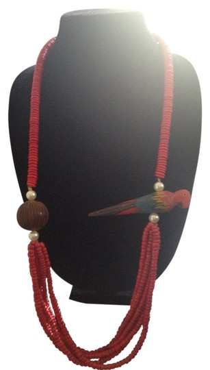 Other Vintage Red Parrot Necklace