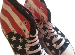 Converse Hi-tops American Flag Canvas Red/White/Blue Athletic