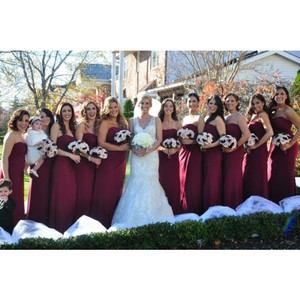 Mori Lee Cranberry Dress