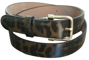 Ann Taylor Tortoiseshell Patent Leather Perfect Skinny Belt