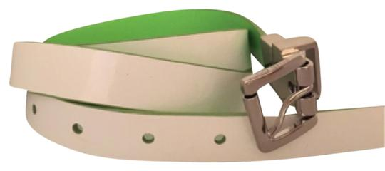 Preload https://item4.tradesy.com/images/michael-kors-lime-greenwhite-reversible-patent-leather-belt-10163788-0-1.jpg?width=440&height=440