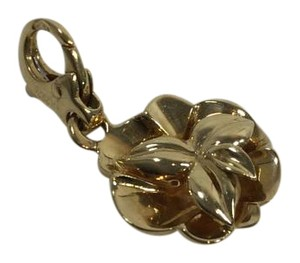 Chanel Chanel Light Gold Camellia Charm