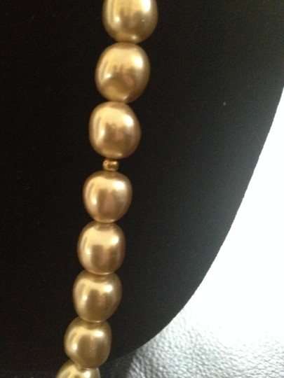 Other Vintage Long Faux pearl gold tone bead necklace