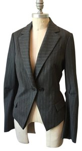 BCBGMAXAZRIA Stretch Stretchy Fitted Gray Blazer