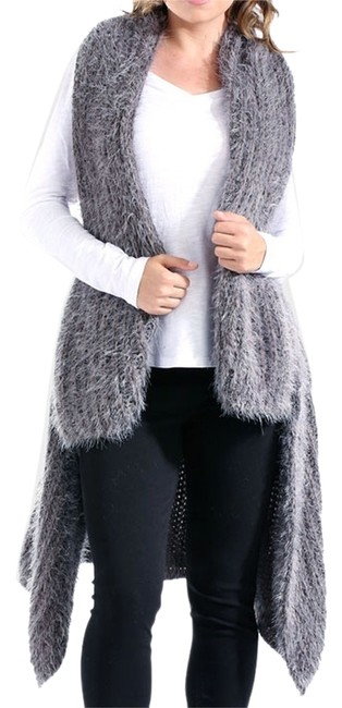 Preload https://img-static.tradesy.com/item/10164124/gray-cozy-chic-long-knit-sweater-vest-size-os-one-size-0-1-650-650.jpg