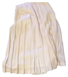 Woolmark winter white skirt Skirt Cream