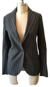 Theory Classic Wool Blend Suiting gray pinstripe Blazer