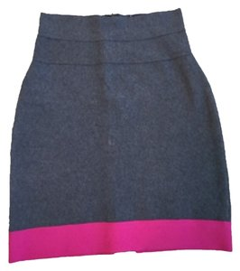 Herms Mini Skirt Grey & Hot pink
