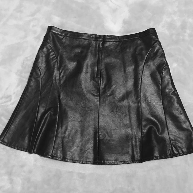 H&M Vegan Faux Mini Skirt Imitation Black Leather
