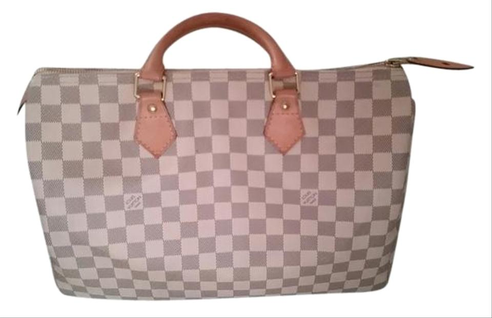 7b78cdeb97f Louis Vuitton Speedy 35 Damier Damier Azur Speedy Celebirty Bags Satchel in  Multicolored Image 0 ...