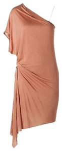 Helmut Lang short dress Peach Cap Sleeve Wrap Micromodal Asymetric on Tradesy